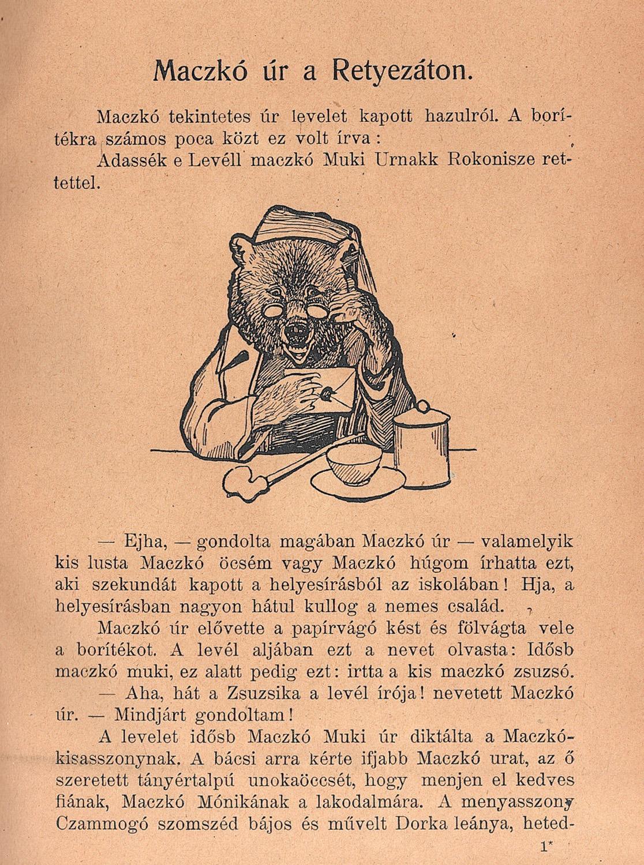 Maczkó úr utazásai. Budapest, Singer és Wolfner Kiadása, 1921.