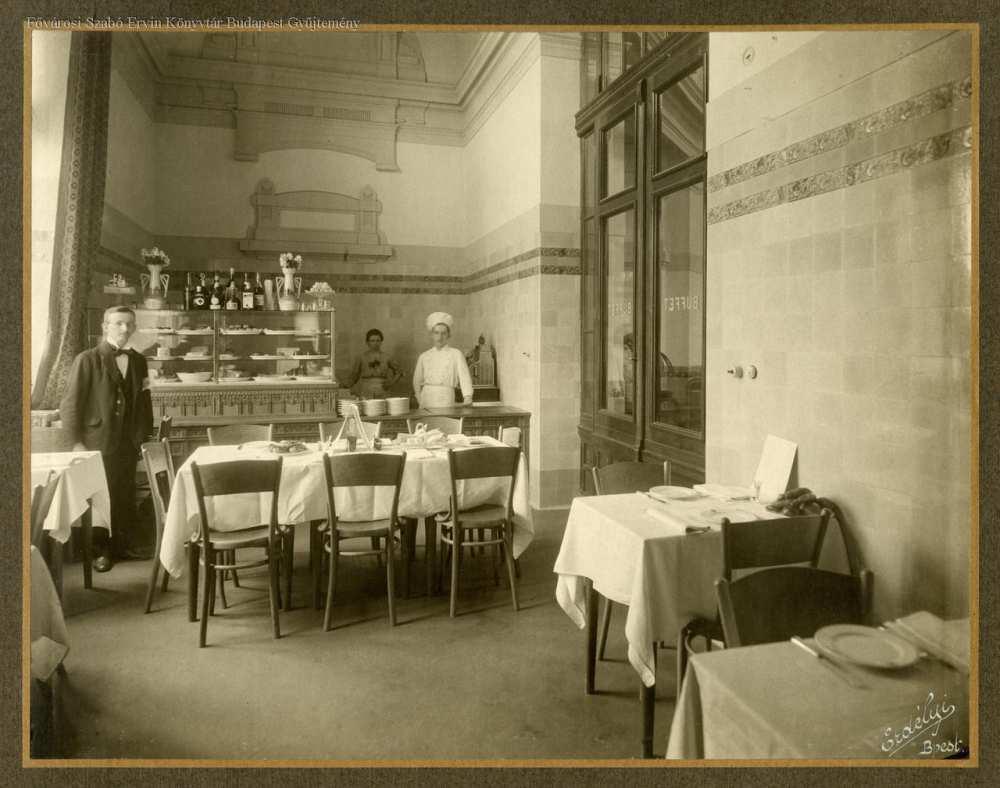 Széchényi fürdő étkező – Fővárosi Szabó Ervin Könyvtár, Budapest Képarchívum 080598