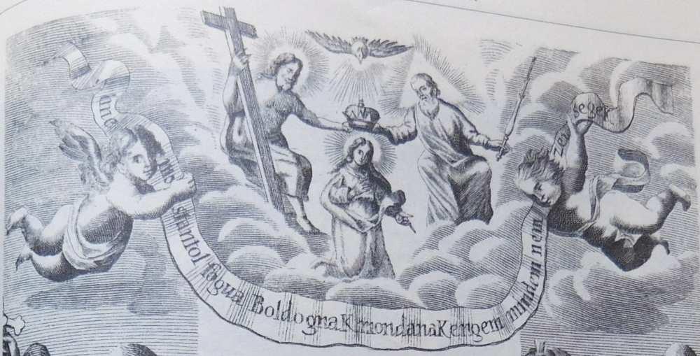 Mennyei korona, az az Az egész Világon lévö Csudálatos Boldogságos Szűz Kepeinek rővideden fől tett Eredeti. Mellyet sok tanuságokbol öszue szerzett, és az áetatos hivek lelki idvösségekre ki bocsatott uijonann GALANTHAI ESTERÁS PÁL, Szentséges Romai Birodalombeli Herczeg Magyar Országi Palatinvs 1696. Esztendöben. Meg szaporittatott pedig az előbbenni, kőnnyu ugy hogy az Historiáknak száma Ezer Harom Száz, Nagyszombat, Akadémiai Nyomda, 1696. RMK I. 1496 – Régi Nyomtatványok Tára http://nektar.oszk.hu/hu/manifestation/3388779