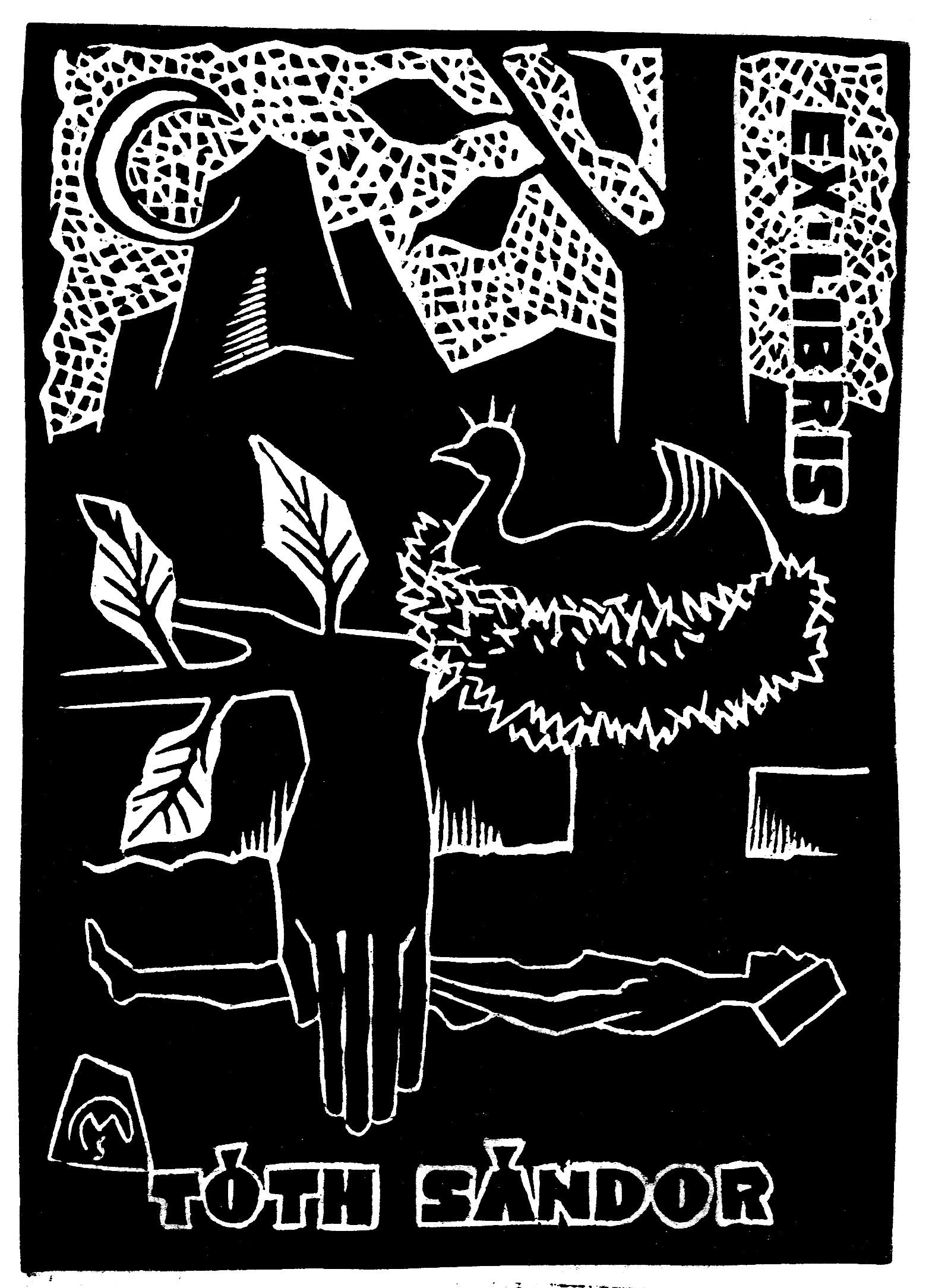 Ex libris Tóth Sándor (Csiby/72, OSZK Plakát- és Kisnyomtatványtár)
