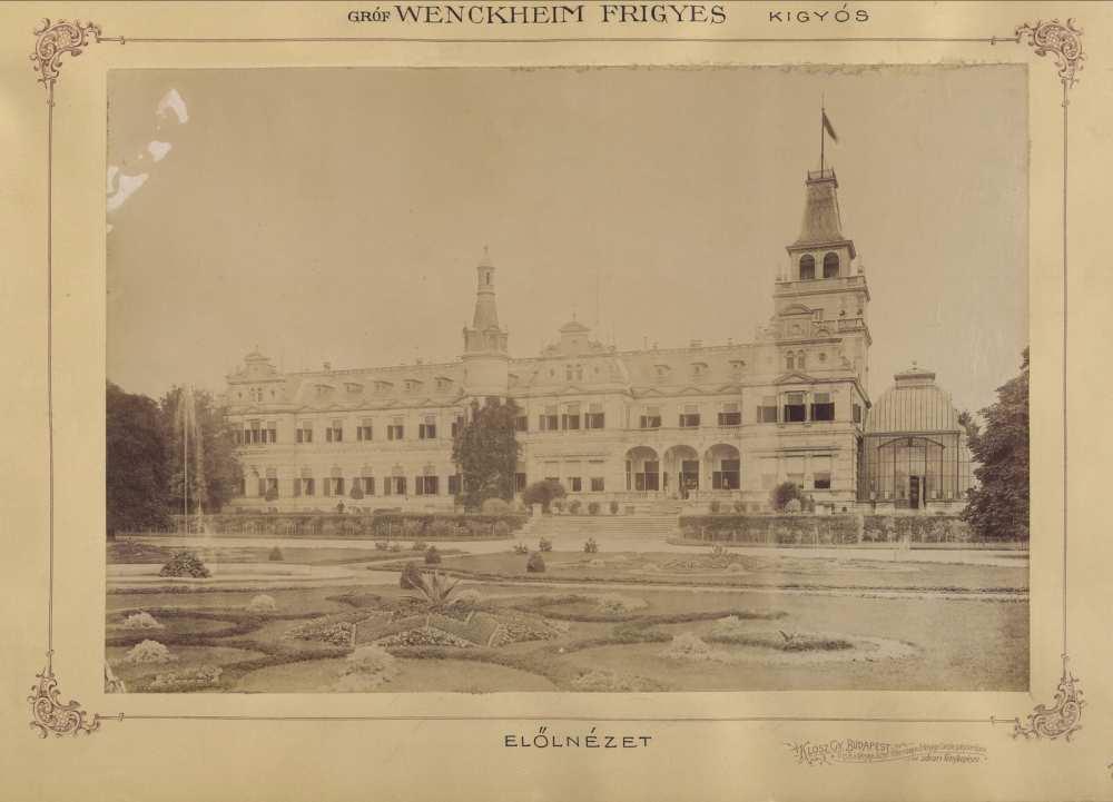 Wenckheim-kastély, Szabadkígyós. 1895 és 1899 között. Forrás: Fortepan/Budapest Főváros Levéltára. HU.BFL.XV.19.d. 1.11.204.