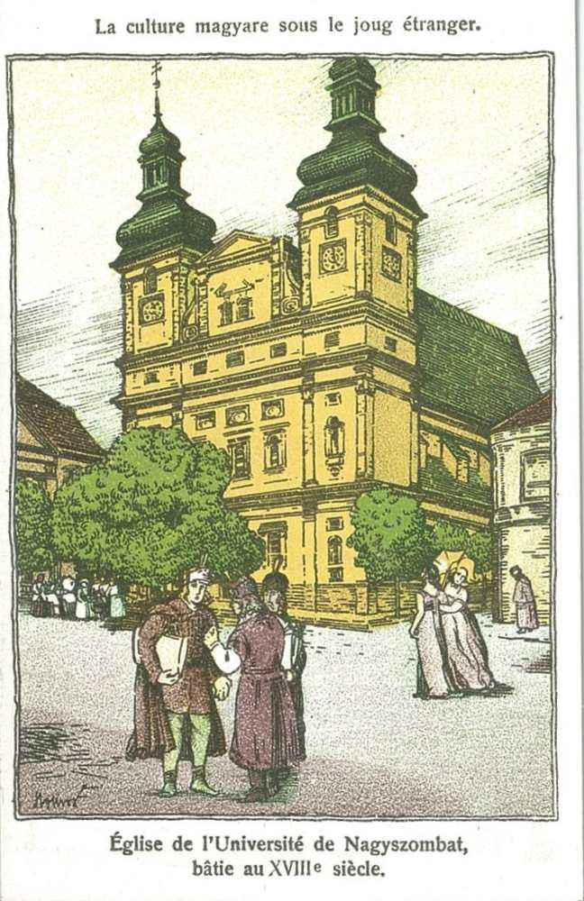 Le culture magyare sous le joug étranger. [képeslap] 1945 előtti képeslapgyűjtemény. Történelem – Plakát- és Kisnyomtatványtár