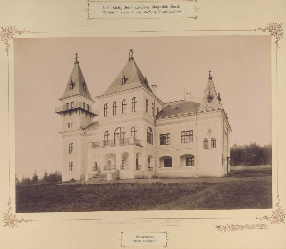 Zichy Jenő vadászkastélya, Románia. 1895 és 1899 között. Forrás: Fortepan/Budapest. Főváros Levéltára.HU.BFL.XV.19.d.1.13.030.