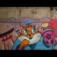 Graffiti spots I. - Budapest, Hungary - Népsziget