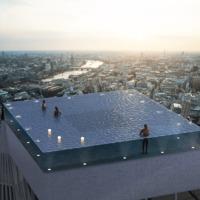 Körpanorámás medence Londonban, 200 méter magasban