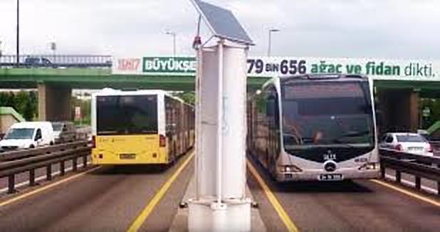 Energia az elhaladó autókból