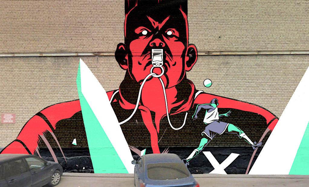 240 graffitiből csinált Foci VB reklámot a Nike