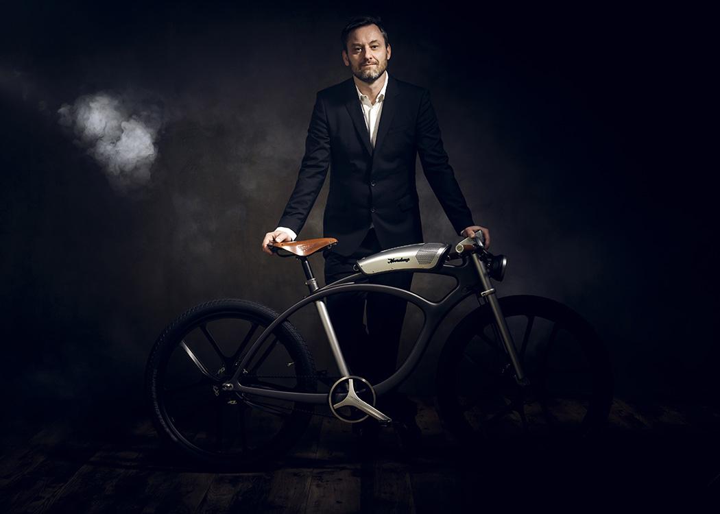 design elektromos bicikli, leszerelhető hangfallal a Noordungtól