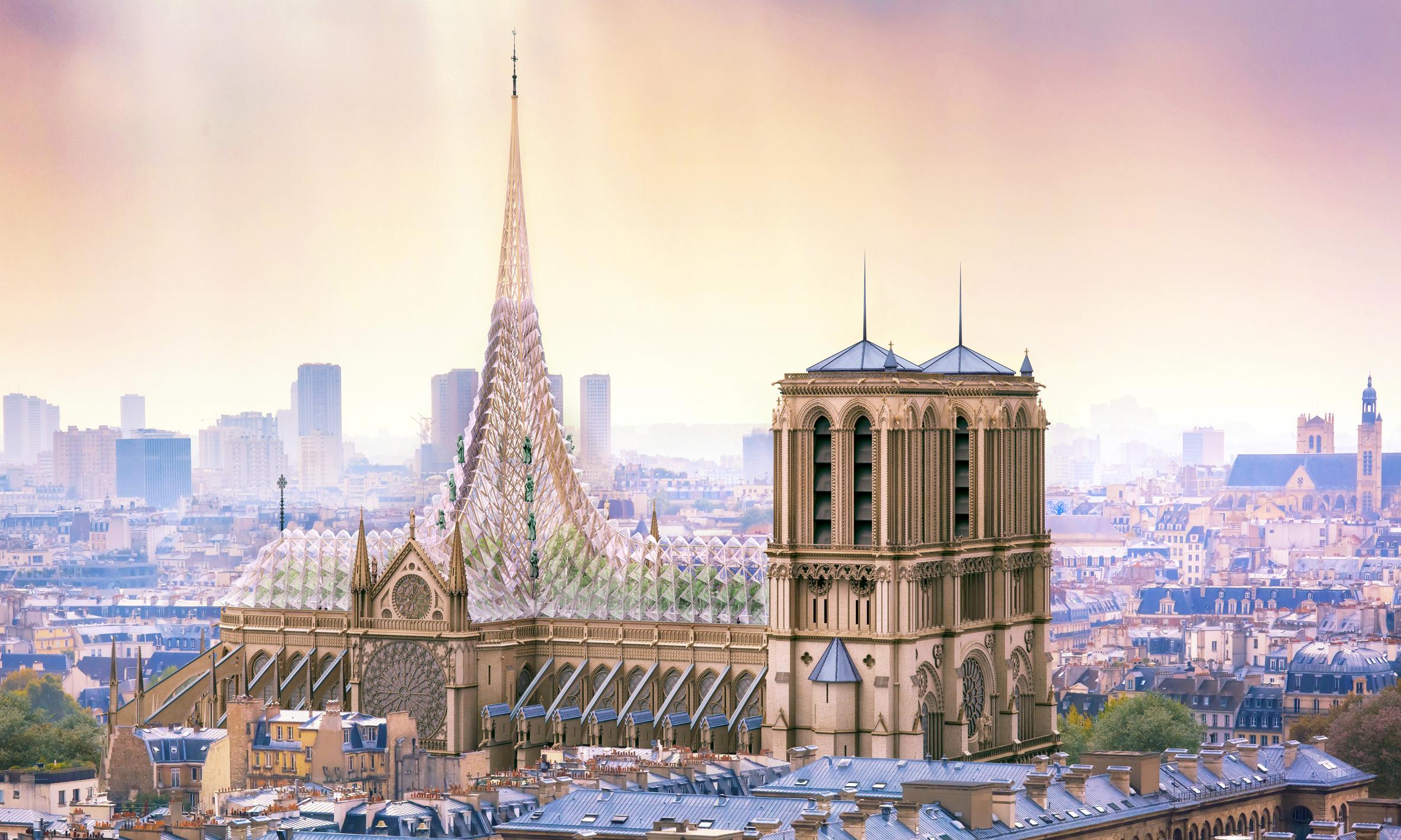 Alternatívák a leégett Notre Dame tetőszerekezetére