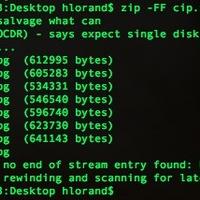 Sérült zip fájl megjavítása OSX alatt