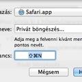 OSX Safari: Privát böngészéshez billentyűparancs