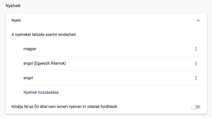 Chrome helyesírás ellenőrző bekapcsolása Mac-en.