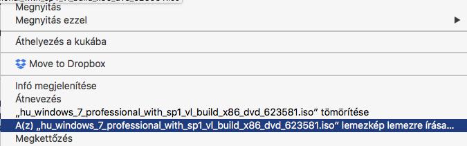 ISO lemezkép fájl kiírása CD-re, DVD-re Mac OS X-en!
