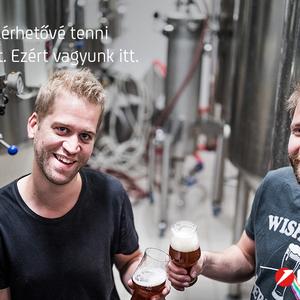 A Hara'Punk egyik tulajdonosa, aki szerint a sör csajos ital is