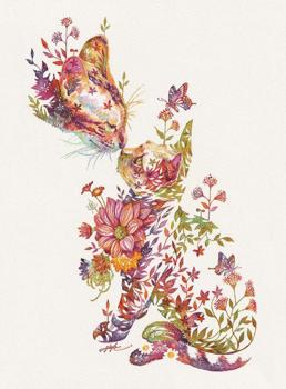 Egy japán művész tündéri grafikái