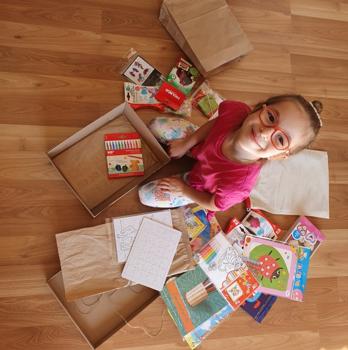Csomag a gyermek kreativitására szabva