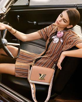 Kaia Gerben Louis Vuitton táskával