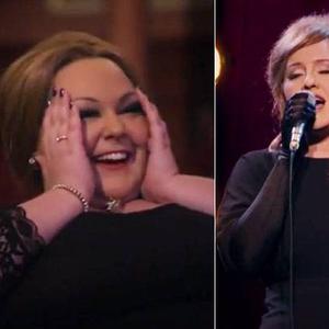 Adele nem volt maga, de közben mégis!