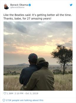 27 éve házasok: Obama nem felejtette el az évfordulót