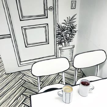 Kávézás egy képregényben?