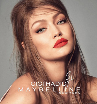 Gigi Hadid make up trükkjei by Maybelline