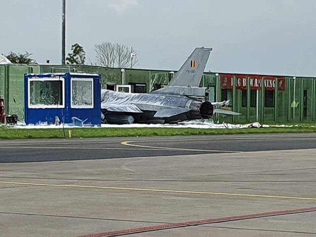 Összetört egy belga F-16-os