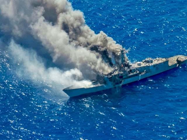 Éleslövészeten süllyedt el egy amerikai fregatt