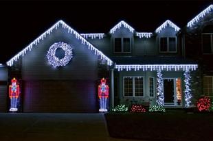 Karácsonyi fényáradat? De még milyen...