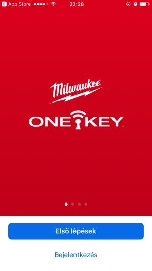 A One-Key mobilapplikáció indulóképernyője