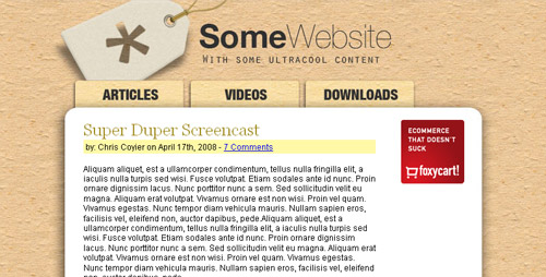 PSD to HTML Tutorial
