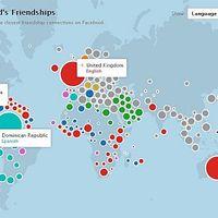 Interaktív kapcsolatháló - A Facebook ismeretségek dinamikus világtérképe