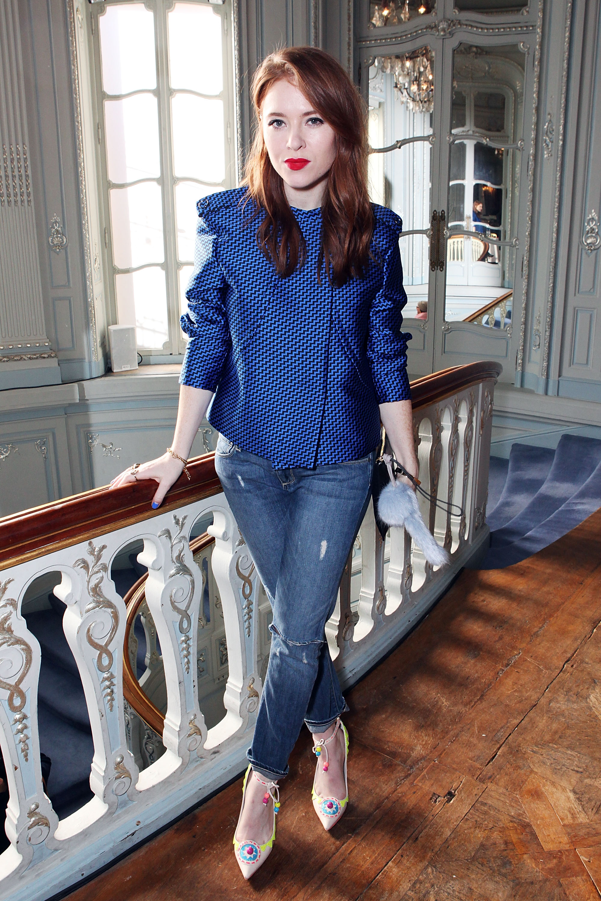 Angela Scanlon<br /> Photo by David M. Benett/Getty Images for Pringle of Scotland