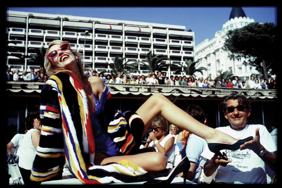 Jerry Hall és Helmut Newton, Cannes