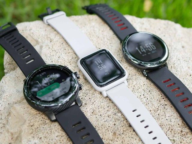 Bluetooth okosóra, szilikon szíj, vízálló, Xiaomi Amazfit Stratos, fekete, gyári
