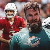 Ryan Fitzpatrick a Dolphins kezdőirányítója, Josh Rosen eddig alulmaradt a versenyben