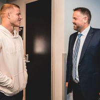 Christian McCaffrey izgatott, hogy együtt dolgozhat az új vezetőedzővel, Matt Rhule-lal