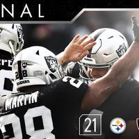 A Steelers legyőzésével a Fosztogatók megszerezték a harmadik győzelmüket