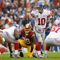 Regular season week 12: Giants 14 Redskins 20