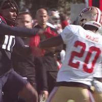 Egymásnak estek a Texans és a 49ers közös edzésén is (videó)