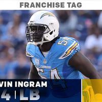 A Los Angeles Chargers franchise taget adott Melvin Ingram-nek