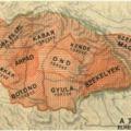 A nemzetségek elhelyeszkedése a 9-10-ik század fordulóján