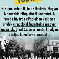 Bukarest felszabadítását a román elnyomás alól virágokkal fogadta a bukaresti román lakosság!!!