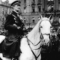 A darutollas hadsereg bevonulása Budapestre