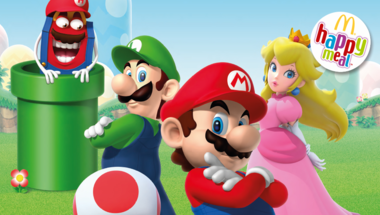 Ismét Super Mario figurák lepték el a McDonald's-ot