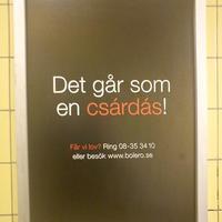 Stockholmi képek 6. – egy magyaros reklám