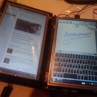 Dupla kijelzős Dell Mini 9 tablet mod