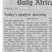 Dail(y) Africa - Az arcátlanság elmosódó határai