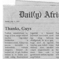 Dail(y) Africa - Kenyeret és bronzmeccset a népnek