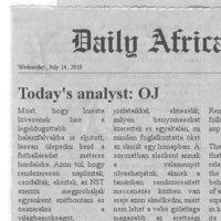 Dail(y) Africa - Emberi tényezők