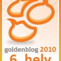 Goldenblog hatodik hely. Huh.